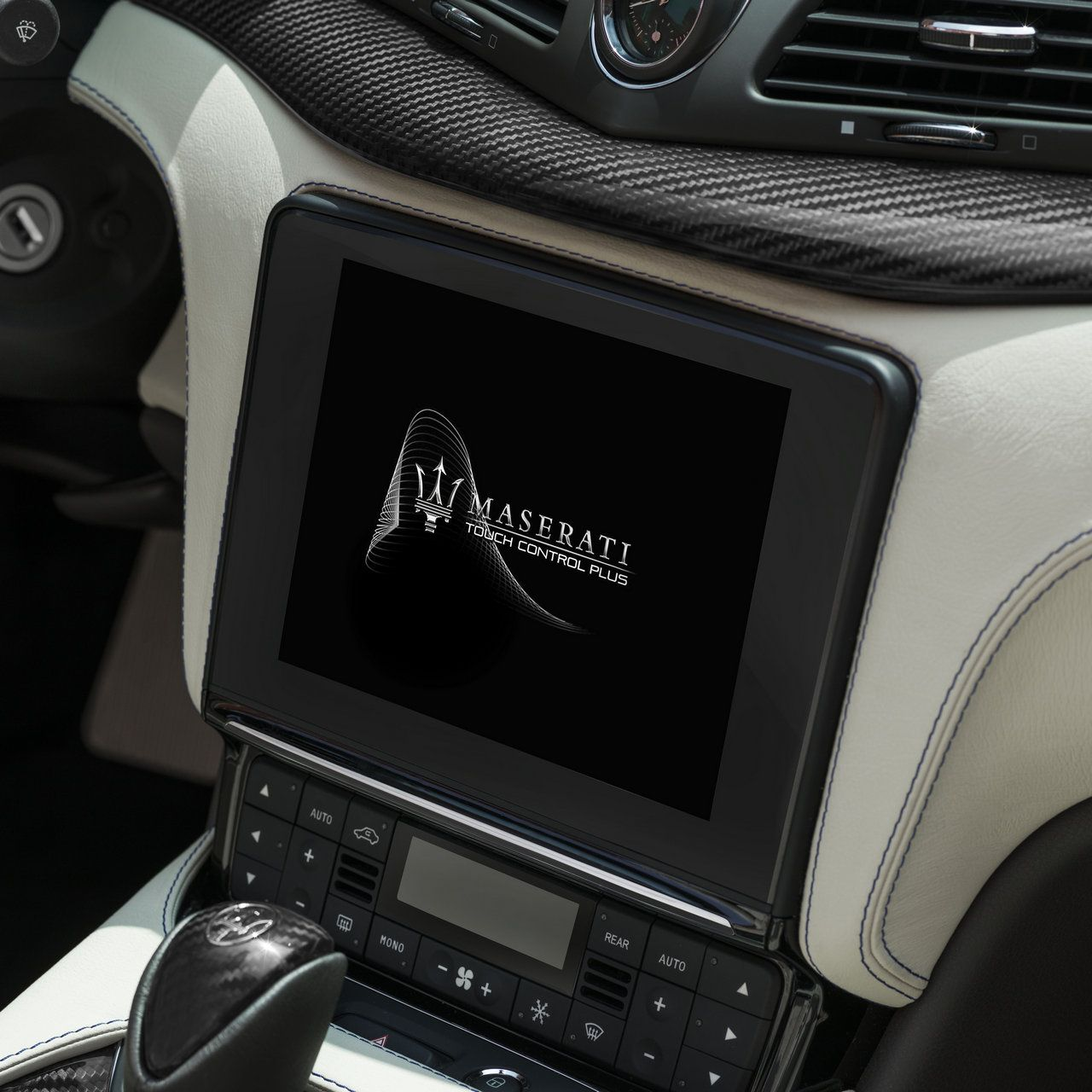 Maserati GranCabrio - luxury interiors' details and touchscreen display