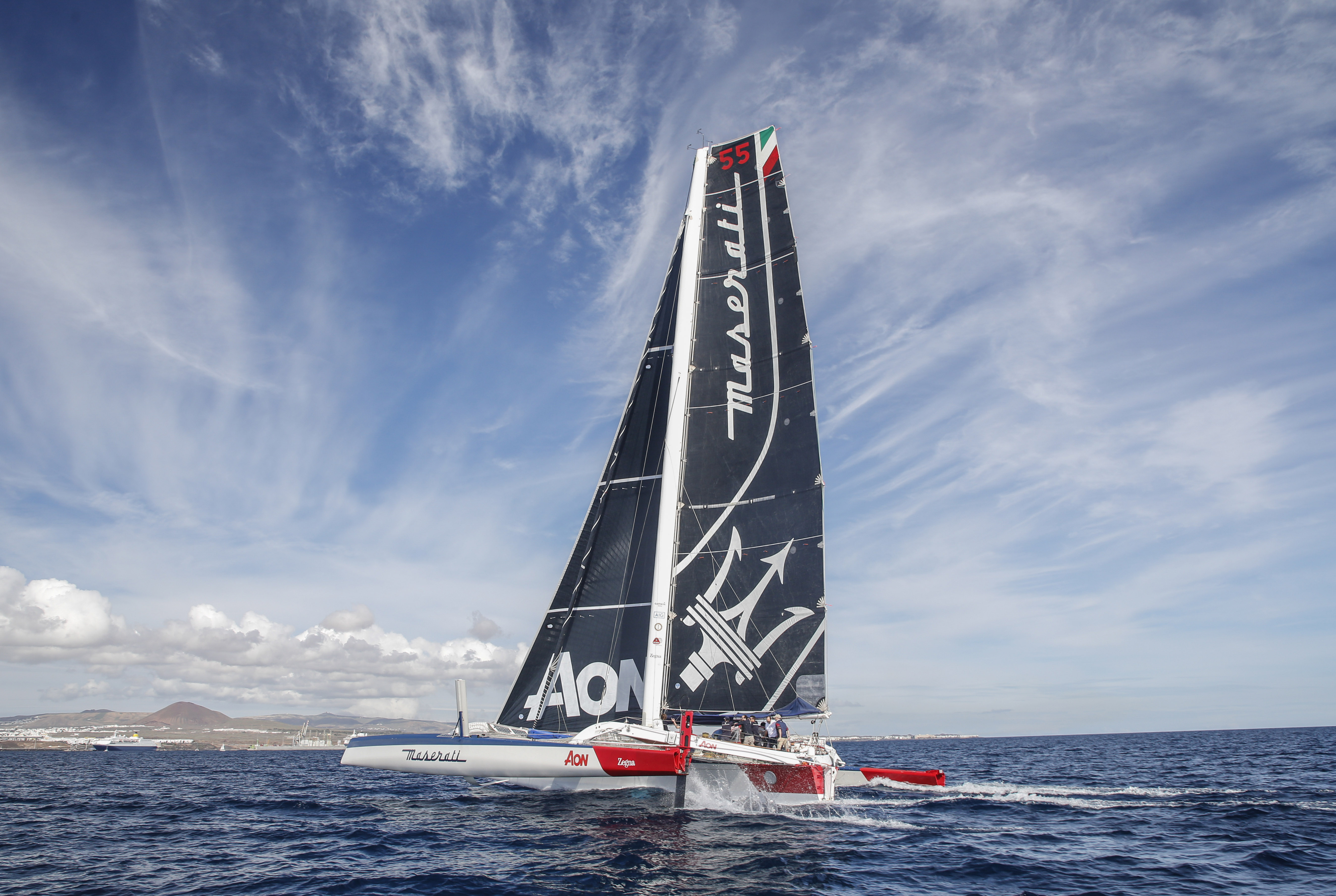 Maserati Multi 70 trimaran sailing the RORC Race