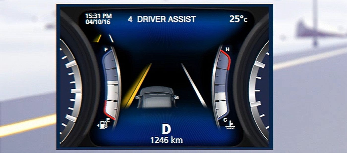 Maserati Lane Keeping Assist System - how it works
