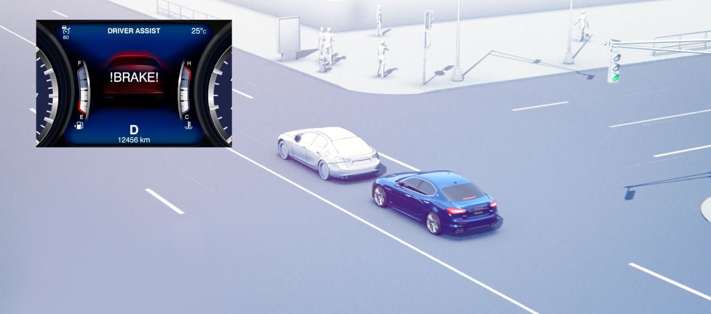 Maserati Forward Collision Warning Plus and the Autonomous Emergency Braking