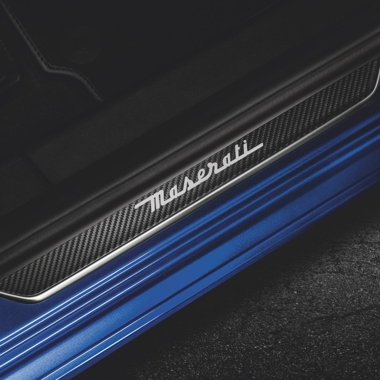 Maserati accessories and customisation - Carbon Doorsill Plates Maserati Ghibli