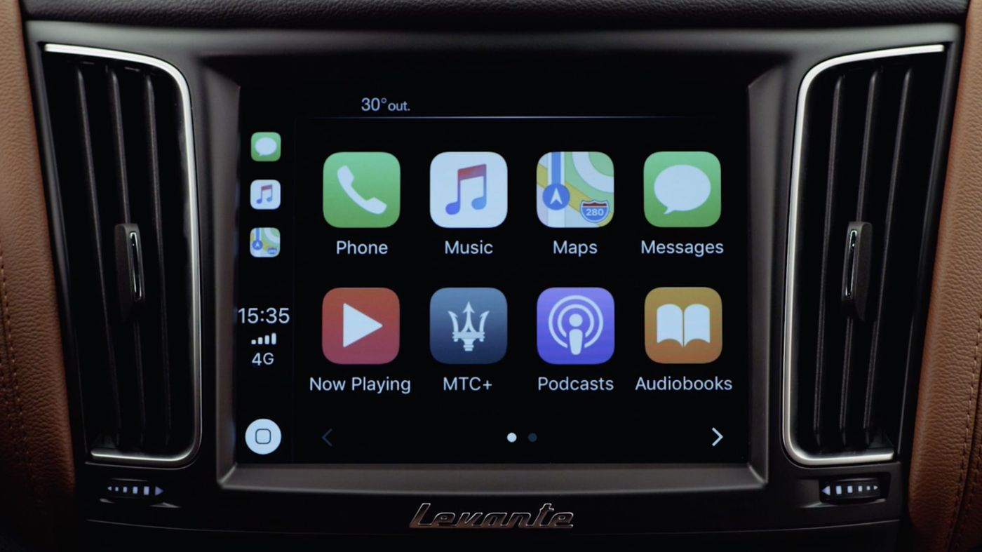 Maserati display and Apple CarPlay: connect your iOS mobile device
