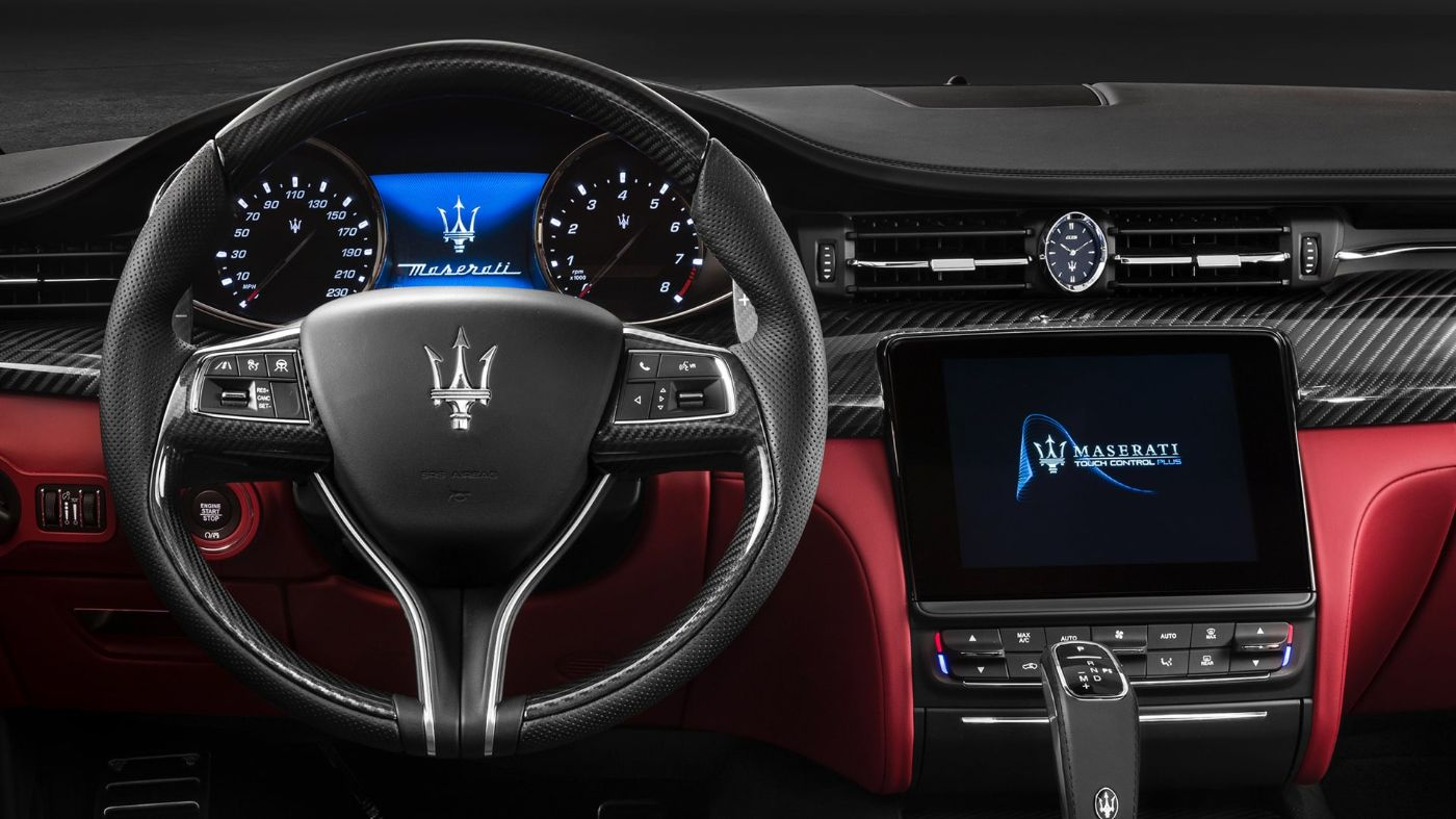 Maserati car dashboad and Touch Control Plus display
