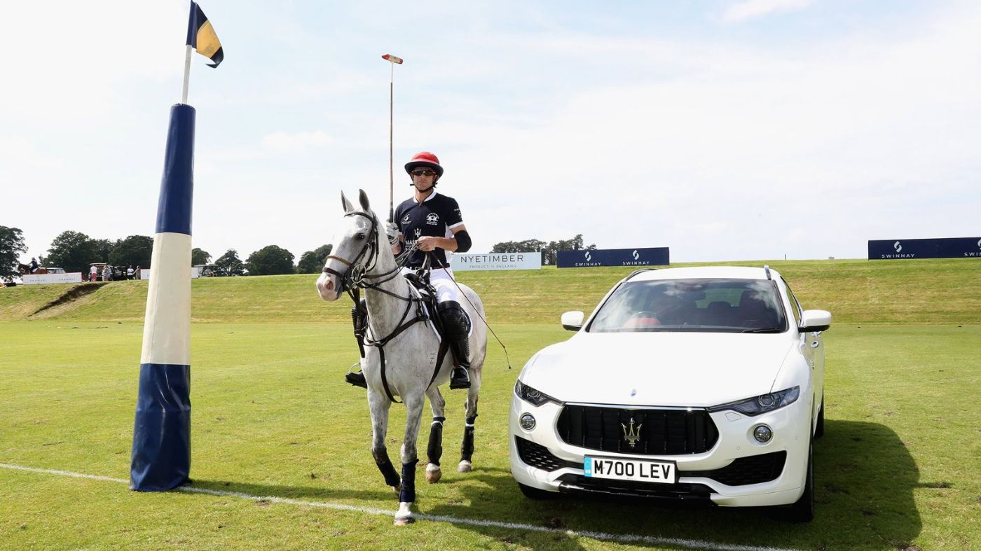 Maserati Polo Tour 2018 - UK - Maserati ambassador Malcolm Borwick with Levante SUV