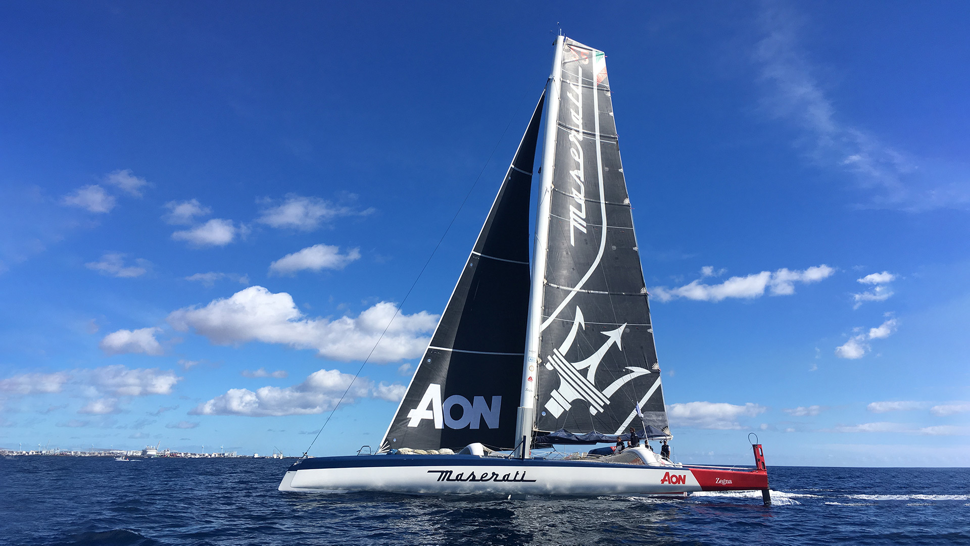 Maserati Multi 70 sailing at the CA 500 race