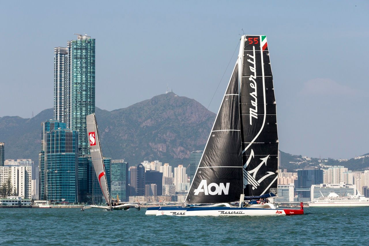 The Maserati Multi 70 trimaran at the Royal Hong Kong Yacht Club Nha Trang Rally